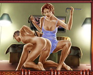 Femdom Chronicles takes it a few steps further than most of the ordinary BDSM sites with its creative approach that transforms real femdom action into a new fantasy comic-style or 3D reality. This site allows you to explore new levels of painful pleasure in the ways that lead you to the ultimate satisfaction.