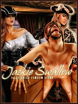 Pirate Mistress Jackie Swallow illustrated femdom story